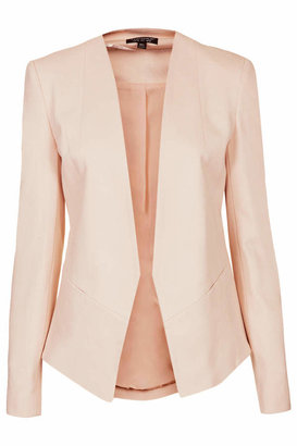 Topshop Skinny tailored blazer with no front fastening. available in other colours. 48% polyester,46% viscose,6% elastane. dry clean only.