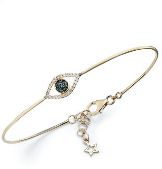 Wrapped wrappedTM Diamond Accent Evil Eye Wire Bracelet in YellOraTM