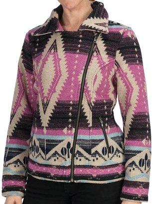 True Grit dylan by Indie Spirit Motor Jacket - Wool Blend (For Women)