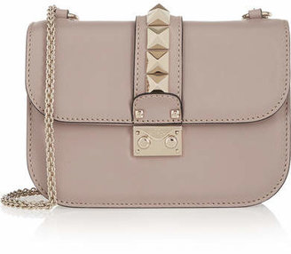 Valentino - Lock Small Leather Shoulder Bag - Blush $2,145 thestylecure.com