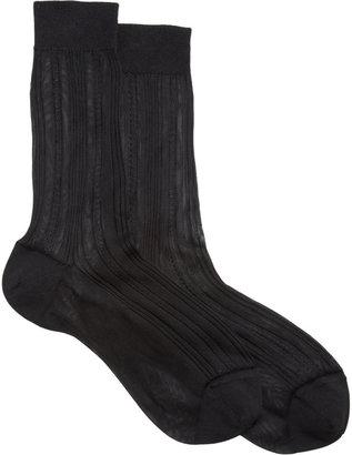 Maria La Rosa Silk Trouser Socks
