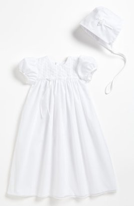 Little Things Mean a Lot Embroidered Christening Gown & Bonnet