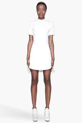 3.1 Phillip Lim White pleated asymmetric Flirt Dress