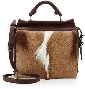 3.1 Phillip Lim Ryder Small Antelope Satchel Bag, Natural