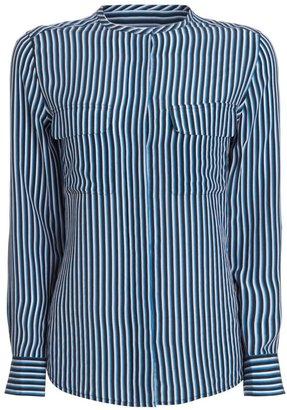 Equipment Multi Striped Silk Lynn Shirt