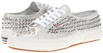 Superga 2750 Lame Studs (Silver) - Footwear