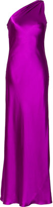 Ralph Lauren Fuchsia Silk Satin Evening Gown