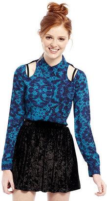 Nanette Lepore L AMOUR BY LAmour Cut-Out Shirt