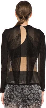 Helmut Lang Transparent Pullover in Black