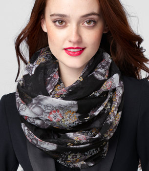 Fred Flare Skull Floral Scarf