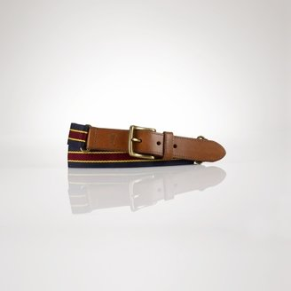 Polo Ralph Lauren Striped Webbed Icon Belt