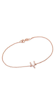 Jennifer Meyer Jewelry Diamond Wishbone Bracelet $650 thestylecure.com