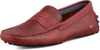 Lacoste Concourse Leather Penny Driver, Red