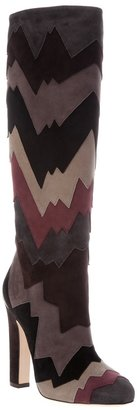 Jimmy Choo graphic suede knee high boot