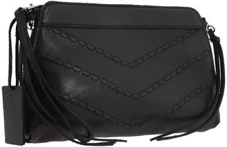 Linea Pelle Jules Stitch Clutch (Black) - Bags and Luggage