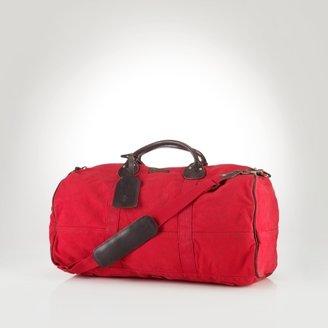 Polo Ralph Lauren Canvas & Leather Duffel Bag