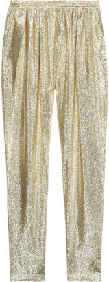 Stella McCartney Christine silk-blend lamé tapered pants