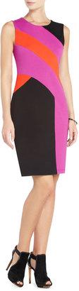 BCBGMAXAZRIA Gladys Color-Blocked Sheath Dress