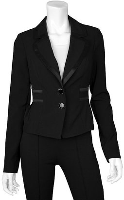 Iz Byer california satin-trimmed blazer