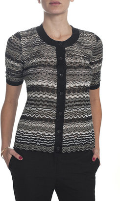 Missoni Button Front Cardigan - Black/Silver