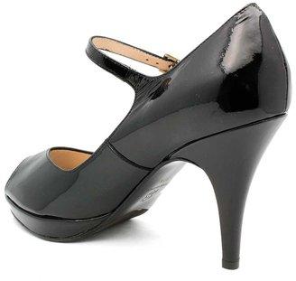 """Gastone Lucioli 5081"""" Black Patent Maryjane Peep Toe"""