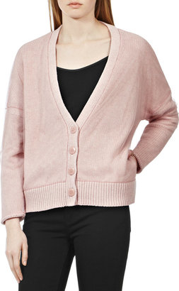 Reiss Quinie MESH COVERED CARDIGAN
