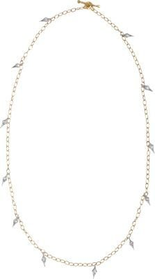 Cathy Waterman Gold & Diamond Fringe Tiny Lacy Chain Necklace