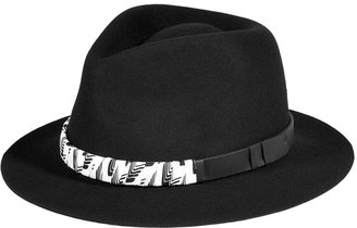 Rag and Bone Rag & Bone Black Wool Range Trilby Hat