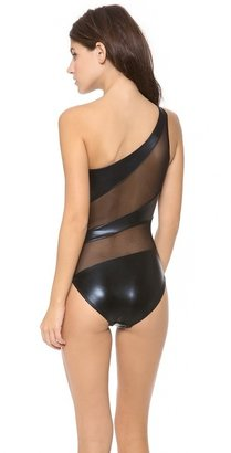 Norma Kamali Snake Mio One Piece Swimsuit