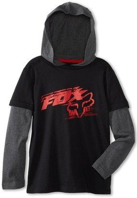 Fox Rutledge 2fer Hoodie (Little Kids) (Black) - Apparel