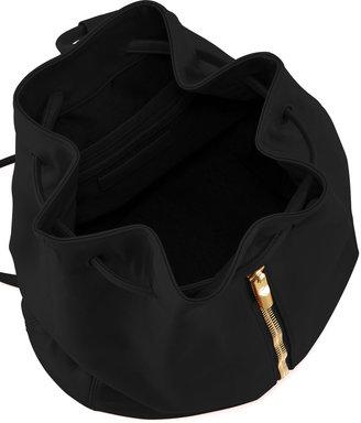 Elizabeth and James Lambskin Drawstring Backpack, Black