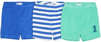 La Redoute Collections Pack of 3 Towelling Shorts, Birth-3 Years