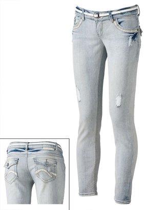 Vanilla Star distressed lurex skinny jeans - juniors
