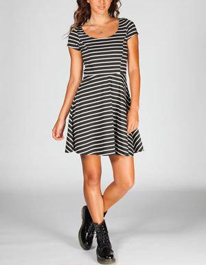 Full Tilt Striped Skater Dress
