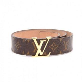 Louis Vuitton excellent (EX Ceinture Initiales 40 MM Monogram Leather Belt