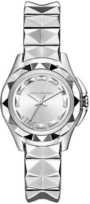 Karl Lagerfeld Women's 7 Stainless Steel Pyramid Stud Bracelet Watch 30mm KL1025
