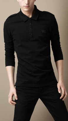 Burberry Cotton Wool Piqué Polo Shirt