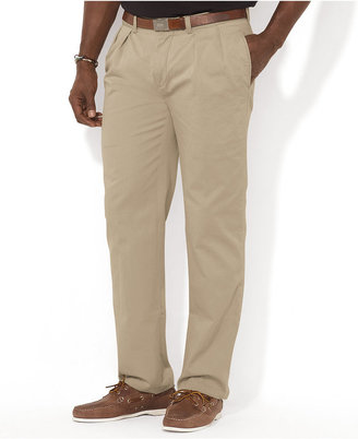 Polo Ralph Lauren Men's Big and Tall Pants, Ethan Classic-Fit Pleated Chino Pants $98 thestylecure.com