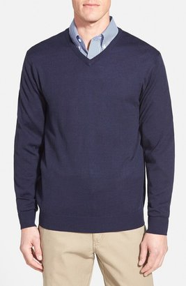 Cutter & Buck 'Douglas' Merino Wool Blend V-Neck Sweater