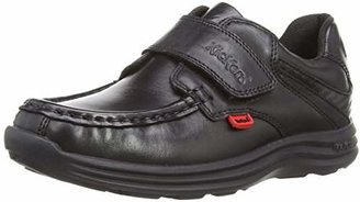 Kickers Boy's Reasan Strap Loafers - Black, (33 EU)