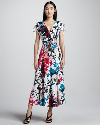 Indikka Floral-Print Maxi Dress