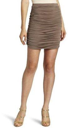 Halston Women's Ruched Chiffon Skirt