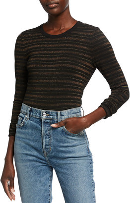 Veronica Beard Jeans Shanley Striped Long-Sleeve Tee