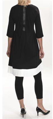 Joan Vass Color-Blocked Dress - 3/4 Sleeve (For Women)
