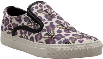 Mother of Pearl Achilles Leopard Bugs Sneakers