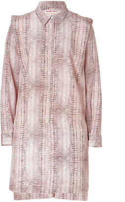 See by Chloe Silk Structured Shoulder Dress