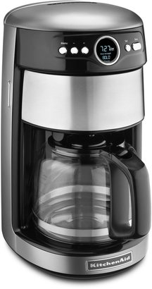 KitchenAid 14-Cup Glass Carafe Coffee Maker in Contour Silver