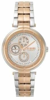 Versace Bellville Multifunction Two-Tone Stainless Steel Bracelet Watch
