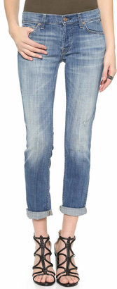 7 For All Mankind Josefina Rolled Hem Jeans $198 thestylecure.com