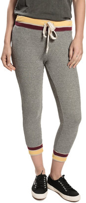 Current/Elliott Cropped Sweatpants - Heather Grey